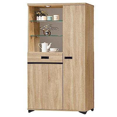 品家居  蜜莉雅2.6尺橡木紋雙面多功能鞋櫃/玄關櫃-79x39.7x189cm免組