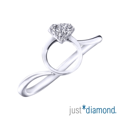 Just Diamond 真愛繞圈圈系列18K金鑽石戒指