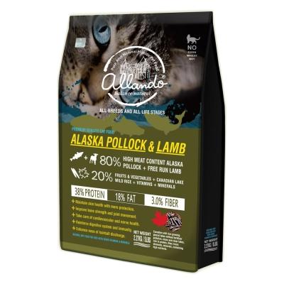 Allando奧蘭多天然無穀貓鮮糧阿拉斯加鱈魚羊肉全貓用2.27kg