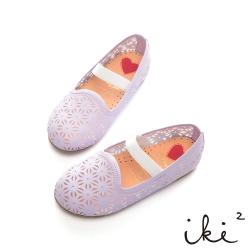 iki2童鞋-跳耀芭蕾繫帶娃娃鞋-紫