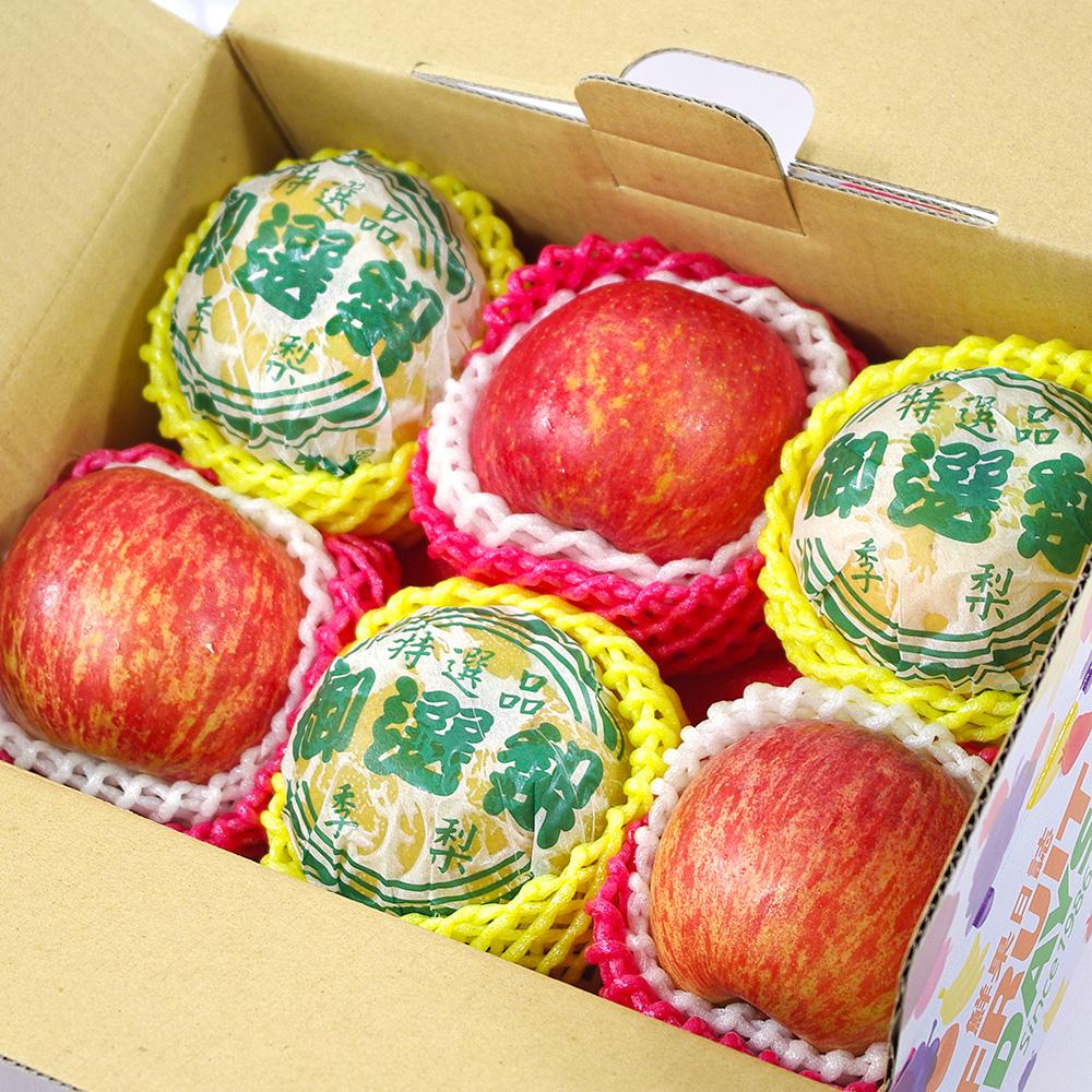 鮮果日誌 - 平安順利祝福禮盒(智利蘋果3入+東勢新興梨3入)