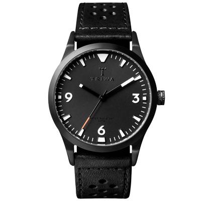 TRIWA Sort of Black 系列  北歐葛羅風情時尚腕錶-黑/38mm