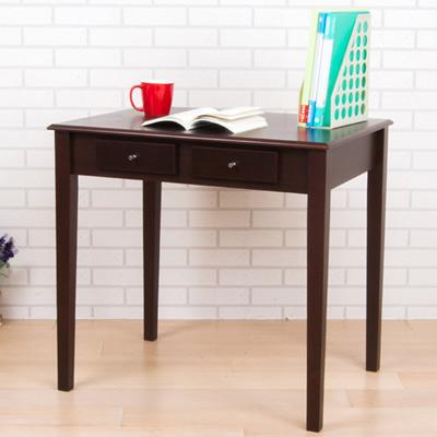 維納斯實木腳雙抽書桌(寬80公分)(2色)