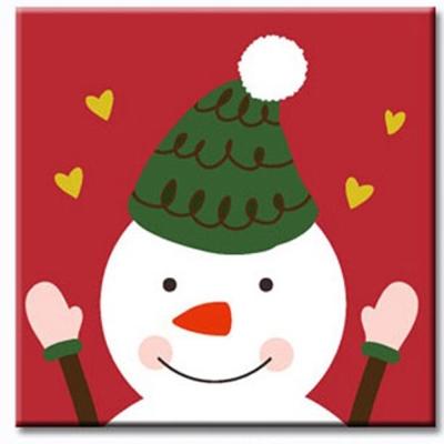LOVIN 超萌韓版數字油畫 聖誕雪人 1幅 20x20cm