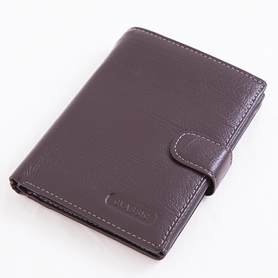 ABS愛貝斯 - 護照夾 直式真皮2活頁8卡雙層鈔票層拉鍊隔層7070-025 - 咖啡