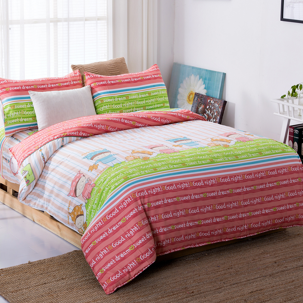 DON奇幻森林 雙人四件式蜜絲絨兩用被床包組