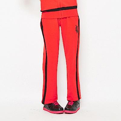 【TOP GIRL】 吸濕排汗休閒針織長褲-亮紅