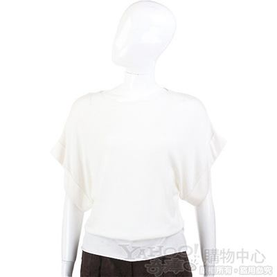 VALENTINO 米白色蝴蝶袖平口上衣
