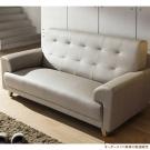 日本直人木業-STYLE防潑水/防污/貓抓布高回彈泡棉實用三人沙發