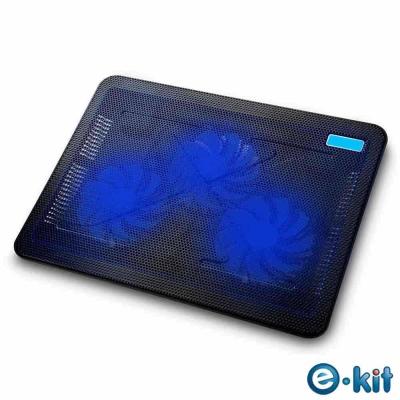 逸奇e-Kit 110mm 超靜音三風扇筆電散熱墊CKT-C3_BK