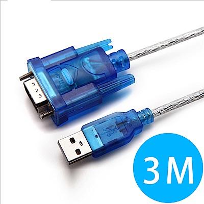 USB 2.0-RS232 9-pin高速數據傳輸線-3M