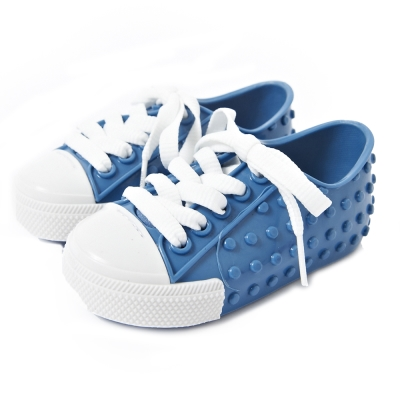 MINI MELISSA豆豆鞋-藍/白