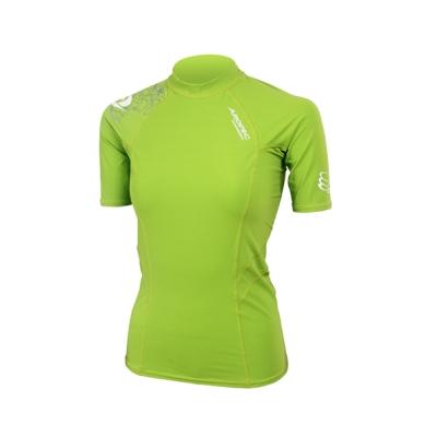 AROPEC Compression II 女款運動機能衣 短袖 萊姆綠