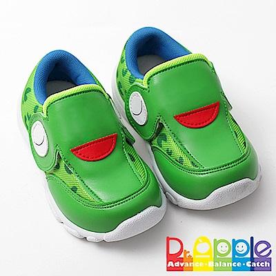 【Dr. Apple 機能童鞋】俏皮繽紛動物造型透氣童鞋 綠