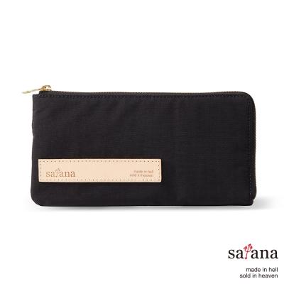 satana - 簡約實用長夾 - 黑色