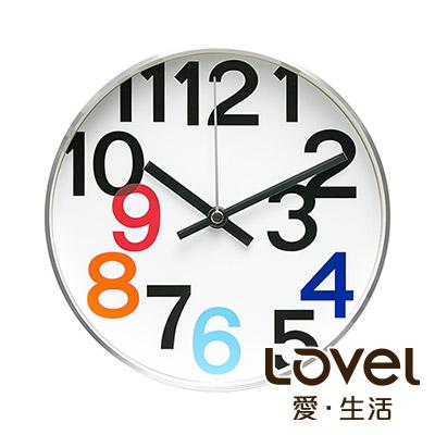 LOVEL 20cm 普普風金屬框時鐘-共2款
