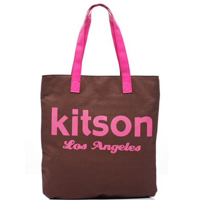 kitson 美式學院風方型托特包(BORWN)