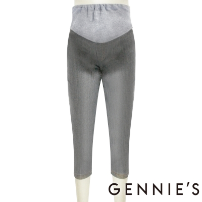 Gennies奇妮-質感休閒牛仔七分褲(G4213)-灰