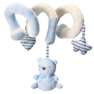 奇哥 布偶熊彎管玩具-藍
