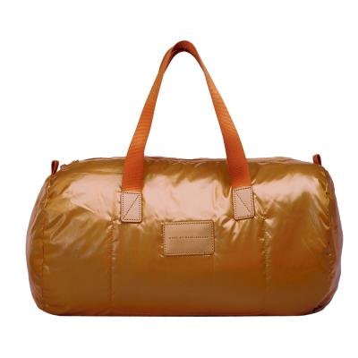 M.B.M.J 輕巧尼龍大型旅行包/購物袋(小-暗橘)