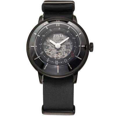FIYTA飛亞達3D立體讀時機械錶(WGA868000.BBB)-黑色/45mm