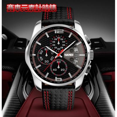美國熊 賽車風格 真三眼計時跑秒功能 運動風腕錶