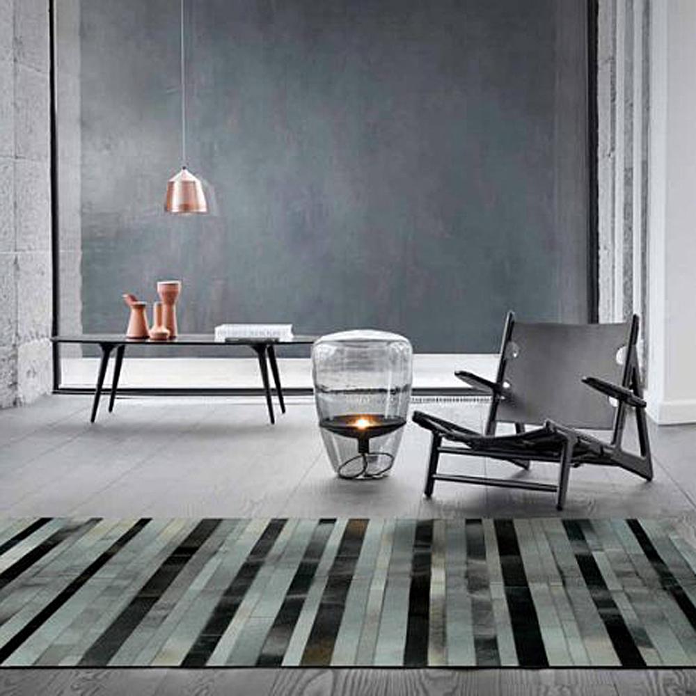 范登伯格 - 印度純手工拼接地毯 - 線條 (160 x 230cm)