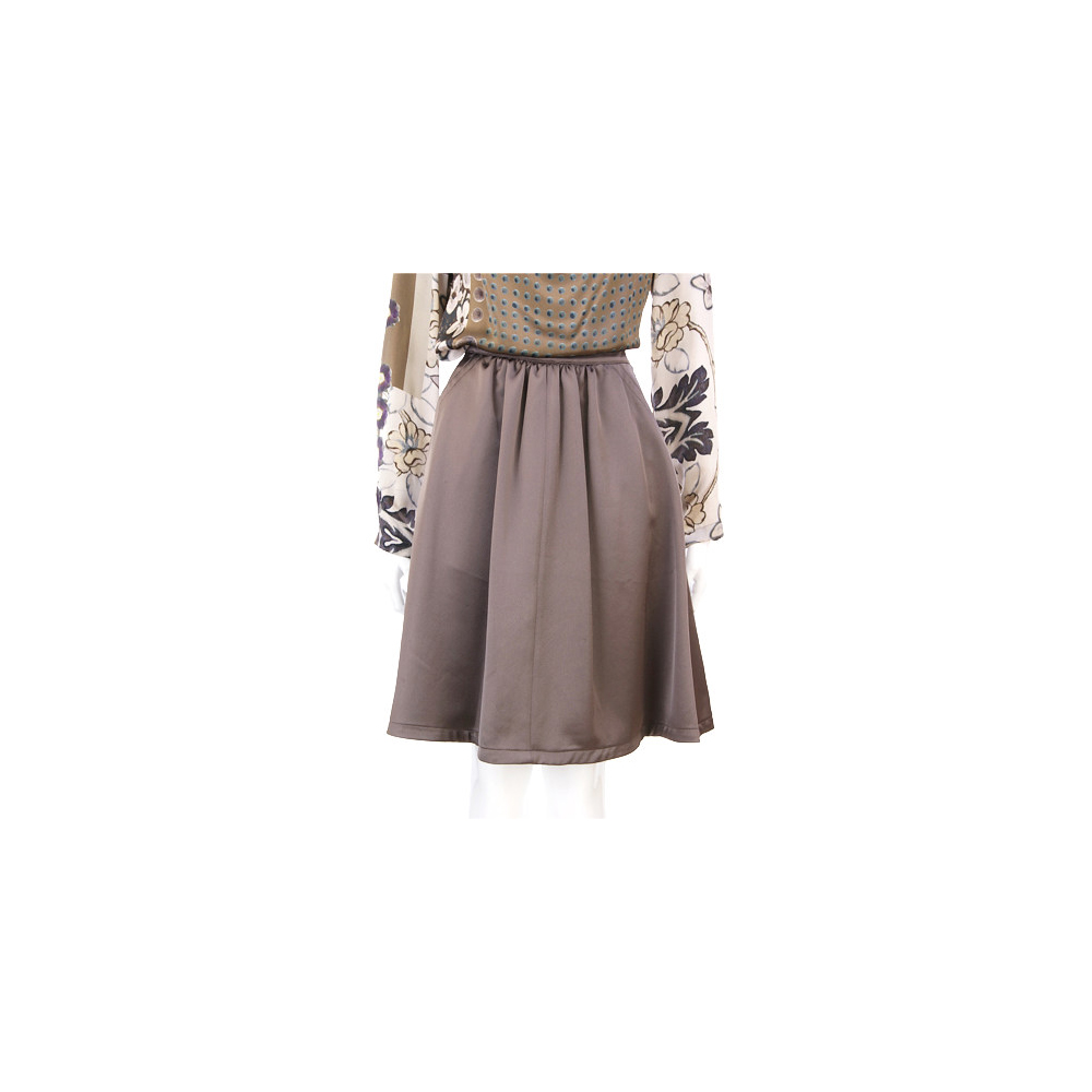 MARELLA 咖啡色緞面及膝裙