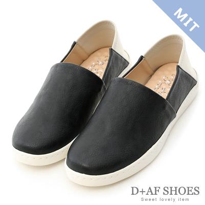 D+AF 樂活滿分.MIT後踩式萊卡2way懶人鞋*黑
