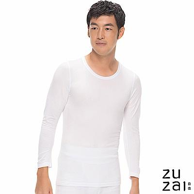 zuzai 自在親膚長袖保暖衣男入門款-白色