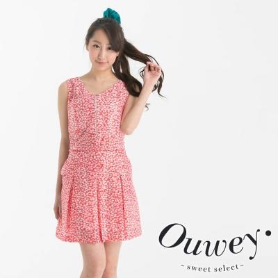 OUWEY歐薇-可愛點點層次背心洋裝