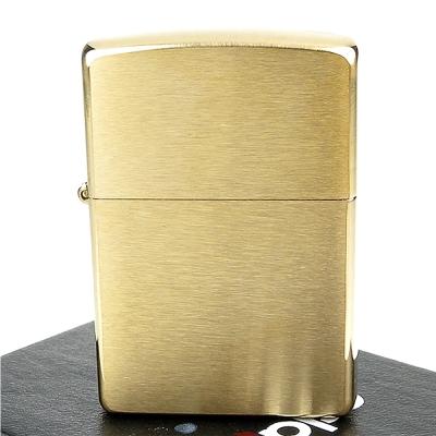 ZIPPO美系-Solid Brass~拉絲打磨金色霧面打火機