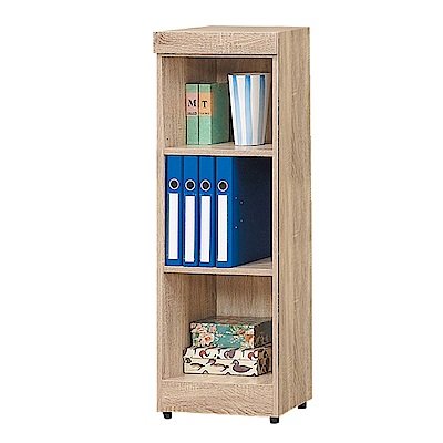 Bernice-達爾思1.3尺開放式三格書櫃收納櫃展示櫃-39x32x112cm