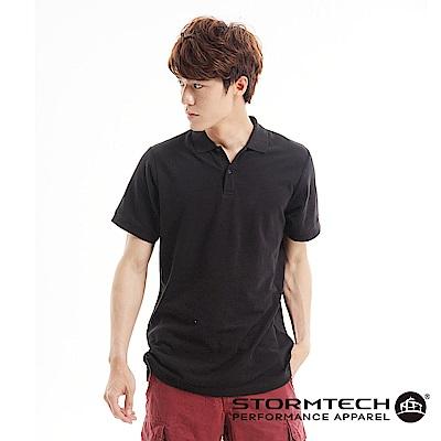 【加拿大STORMTECH】MCP-1純棉網眼極舒適抗UV POLO衫-男 (黑)
