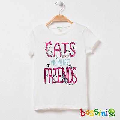 bossini女童-印花短袖T恤13灰白