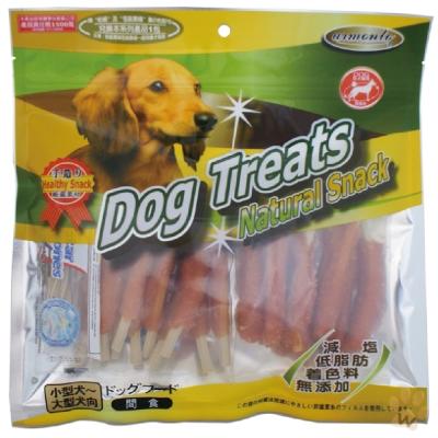 阿曼特 犬用天然潔牙零食系列-牛奶六角潔牙大棒棒腿200g 1入