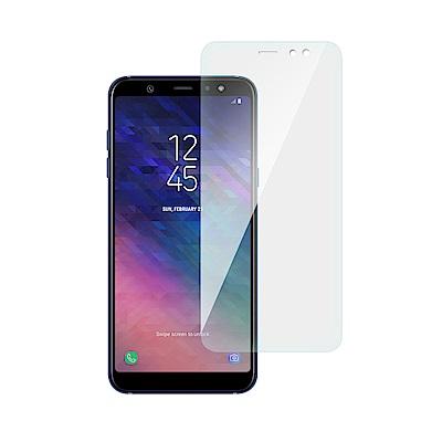 台灣嚴選 Samsung A6 Plus 疏水疏油超硬9H鋼化玻璃保護貼