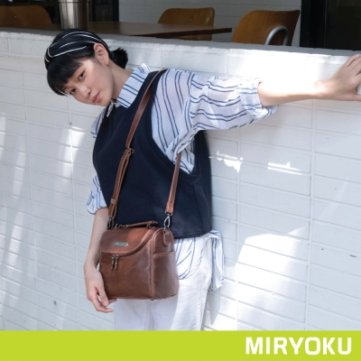 MIRYOKU-經典復古皮革系列-俏麗兩用相機包