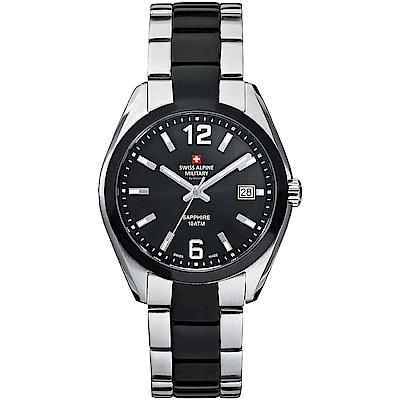 阿爾卑斯 S.A.M -獨家限定-動力系列-黑錶盤/黑銀雙色不鏽鋼鍊帶/40mm