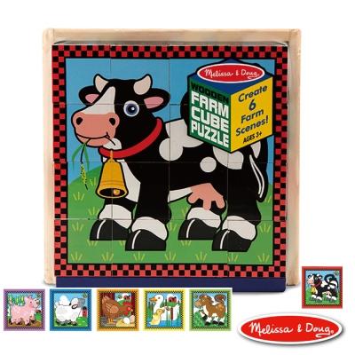 美國瑪莉莎 Melissa & Doug 方塊拼圖 - 農場動物