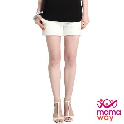 Mamaway 孕期超軟針織短褲(共四色)