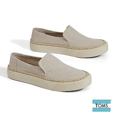 TOMS 純色帆布繩索滾邊厚底休閒鞋-女款