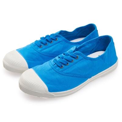 (女)Natural World 西班牙休閒鞋 素面4孔基本款*天空藍