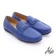 A.S.O 輕量抗震 真皮編織縫線奈米樂福鞋 寶藍色 product thumbnail 1