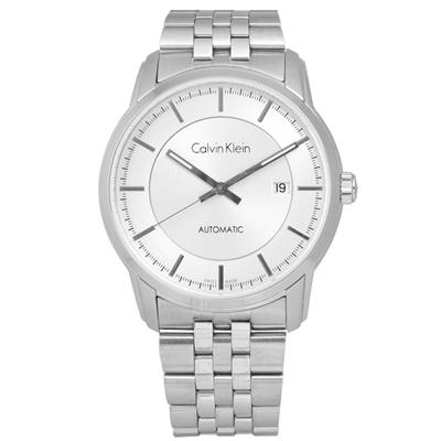 CK Infinite卓越自信質感不鏽鋼機械腕錶-銀色/42mm