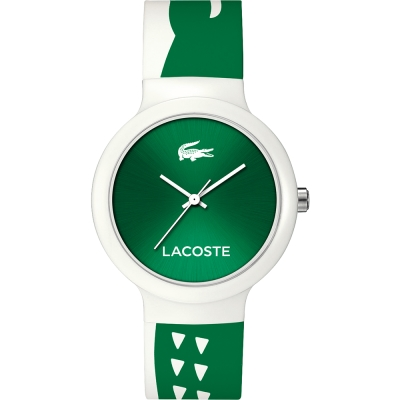 Lacoste Goa 繽紛大鱷魚趣味時尚腕錶-綠/40mm