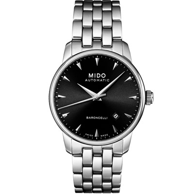 MIDO Baroncelli 尊爵紳士機械錶-鋼帶/38mm