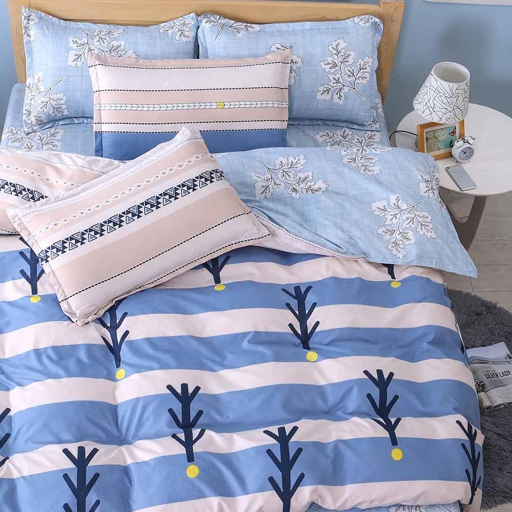 Ania Casa邂逅 雙人四件式 美肌磨毛 台灣製 雙人床包被套四件組