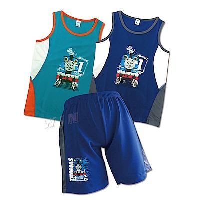 湯瑪士小火車 兒童運動背心2件+短褲1件-混色-MIT