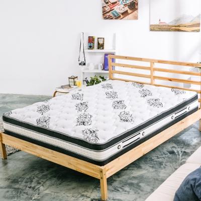 萊諾比-薔薇之戀舒柔布乳膠四線圍邊獨立筒床墊-單人